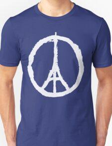 Eiffel Tower Peace Sign White T-Shirt