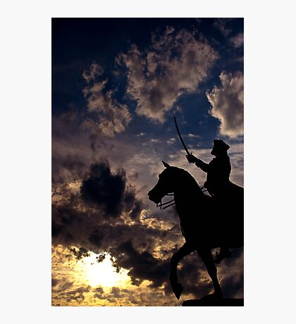 Sunset Warrior  Photographic Print