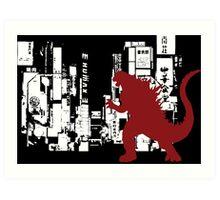TokyoZilla Art Print