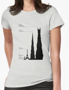 Towering Sauron Womens Fitted T-Shirt