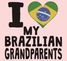 I Heart My Brazilian Grandparents Kids Tee
