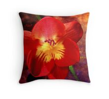 Riotous Spring Throw Pillow