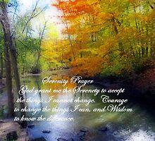 Serenity Prayer With Beautiful Autumn Scene by kkphoto1