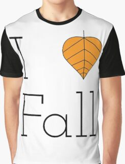 I Love Fall Autumn Leaf Graphic T-Shirt