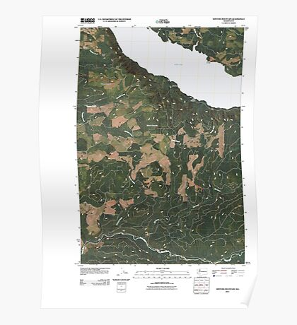 USGS Topo Map Washington State WA Winters Mountain 20110405 TM Poster