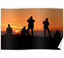 Sunset Silouettes Poster