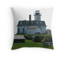 On Rose Island Throw Pillow