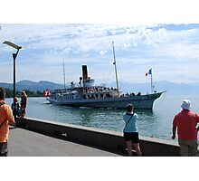 Boat Trip on Lake Leman Photographic Print