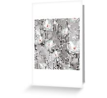 Modern Painted Winter Flowers Pattern Greeting Card