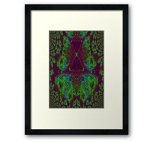Fusion reactor - mapping of Photons into Electron- Positron pairs -graph Framed Print