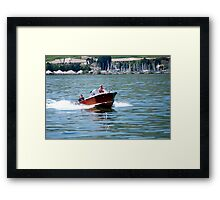 Speed boat Framed Print