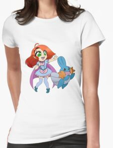 Tia and Mudkip Womens Fitted T-Shirt