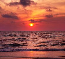Tropical Sunset Beach by daphsam