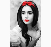 Lily Collins with red lips Unisex T-Shirt