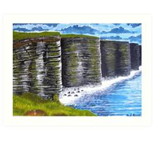 Cliffs of Moher, County Clare, Ireland, view from tourist lookout Art Print