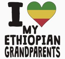 I Heart My Ethiopian Grandparents Kids Clothes