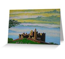The Rock of Cashel, County Tipperary, Ireland, a romantic view Greeting Card