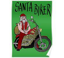 Santa biker Poster