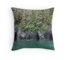 Water Caves, Alaska Throw Pillow