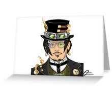 Johnny Depp - Steampunk Gentleman Greeting Card