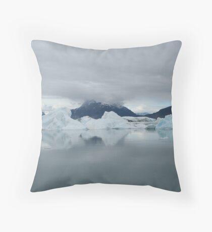 Icebergs, Alaska  Throw Pillow