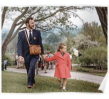 Father & daughter at Rochester Lilac Festival 19570512 0025 Poster
