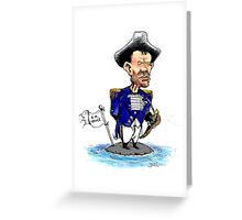 Tony Abbott as Captain Bligh Greeting Card