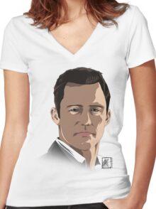 Michael Westen - Burned Women's Fitted V-Neck T-Shirt