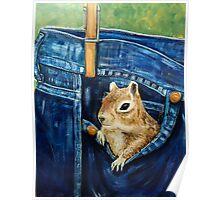 Friendly Pocket Squirrel Poster