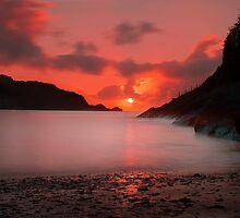 Combe Martin Sunset by John Dickson