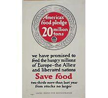 Americas food pledge 20 million tons 002 Photographic Print