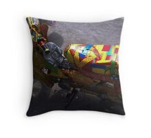 Colouful Ride Throw Pillow