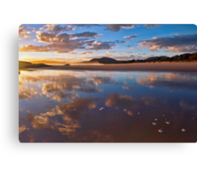Reflected Clouds - South West Rocks, NSW Canvas Print