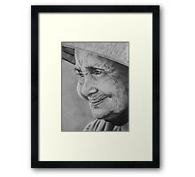 A Friendly Face Framed Print