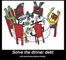 Pay the dinner debt with forex binary options trading by Binary-Options