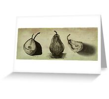 Pears ~ A Sketch Study Greeting Card