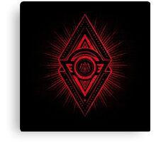 The Eye of Providence is watching you! (Diabolic red Freemason / Illuminati symbolic) Canvas Print