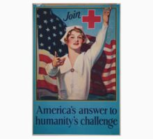Join Red Cross symbol Americas answer to humanitys challenge Baby Tee