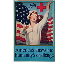 Join Red Cross symbol Americas answer to humanitys challenge Photographic Print