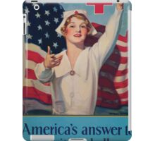 Join Red Cross symbol Americas answer to humanitys challenge iPad Case/Skin