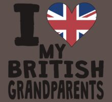 I Heart My British Grandparents One Piece - Short Sleeve