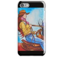 She Rides A Quick Little Black Pony iPhone Case/Skin