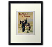 Men wanted for the army 1 Framed Print