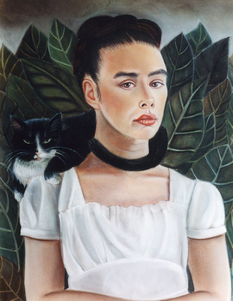 Self Portrait in the style of Frida Kahlo by Amanda Clegg