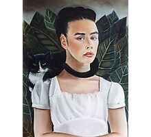 Self Portrait in the style of Frida Kahlo Photographic Print
