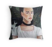 Self Portrait in the style of Frida Kahlo Throw Pillow