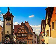 Romantic road Germany - Rothenburg Photographic Print