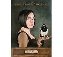 Self Portrait with Magpie Photographic Print