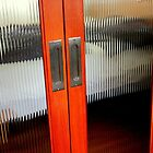 Ribbed Glass Doors - A Half Made Bed by Michael May
