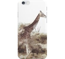 Giraffe in his element iPhone Case/Skin